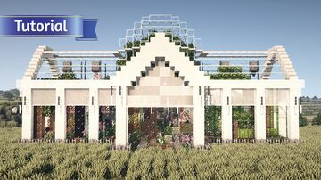 Minecraft : A Greenhouse with four seasons Minecraft Map & Project