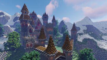 ELLMOND ISLES || Medieval Castle SNEAK PEAK Minecraft Map & Project