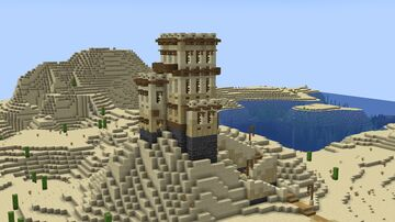 Small Sandstone Tower/House in Desert Minecraft Map & Project