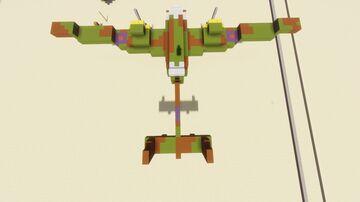 RAF medium bomber - HP.52 Hampden 1,2:1 scale Minecraft Map & Project