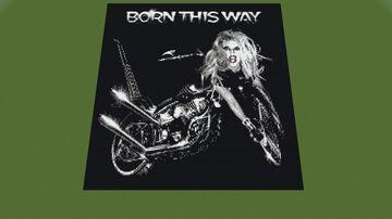 Map art : Lady Gaga - Born This Way Minecraft Map & Project