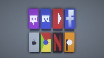 Top 8 Cool Banners Minecraft Map & Project