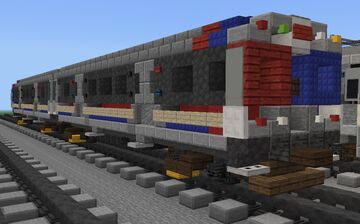 """[1⅔:1] CTA 2400 Series subway train """"The Spirit of Chicago"""" Minecraft Map & Project"""