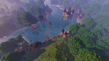 Medieval Lake Castle + Village! Minecraft Map & Project