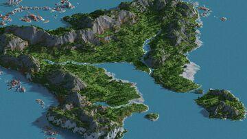 Greek island - 3000x3000 Minecraft Map & Project