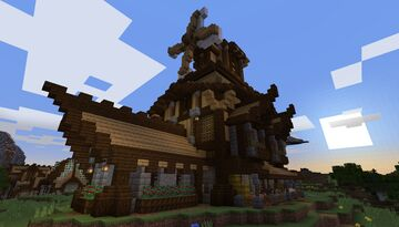 Medieval Farmer's House - (Farmer Trading) - Build Idea - [World Download] Minecraft Map & Project