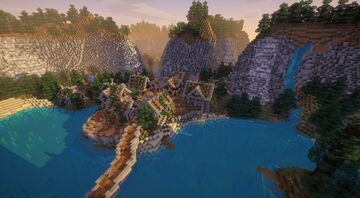 The Valley (The Grotto Server Spawn) Minecraft Map & Project