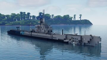 USS Torsk SS-423 Tench-class Submarine Minecraft Map & Project