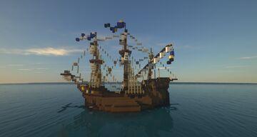"""Medieval Ship Carrack """"Friedrich August von Krain"""" Minecraft Map & Project"""