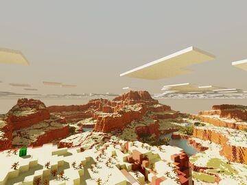 Custom Desert Minecraft map 1.5k x 1.5k Worldpainter Minecraft Map & Project