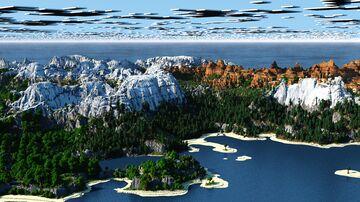 Iskorlia - Rocky Mountains, 1.18 Caves & New Foliage   [play.mcmeddon.com] (Download, 4k, 1.17+,Java & Bedrock, Multibiome Minecraft Survival World) Minecraft Map & Project