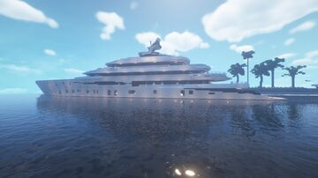 Super Yacht // 123M Private bay // Fincantieri Yachts Minecraft Map & Project