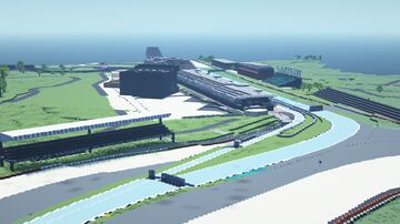 F1 Silverstone, British GP, 1:1 scale Ice boat racing track Minecraft Map & Project
