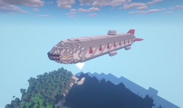 Movecraft Air Battleship - Soleil Royal, Heavy First rate Ship-of-the-Line Minecraft Map & Project