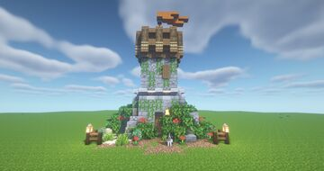 ArtistW03's Medieval Tower House [Schematic] Minecraft Map & Project