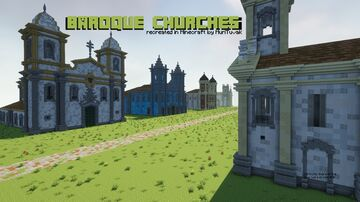 Baroque churches recreated in Minecraft Minecraft Map & Project