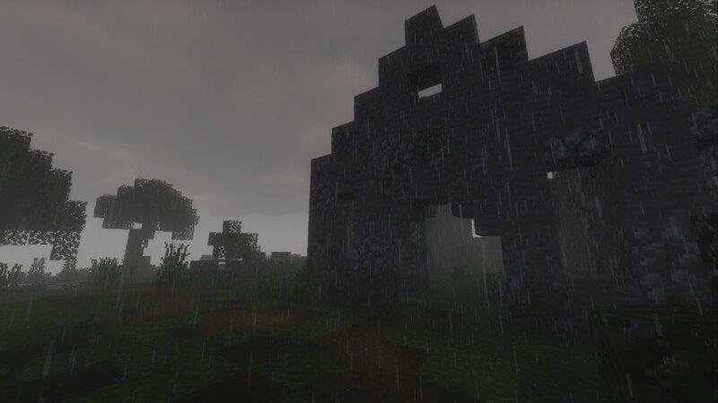 Entrance,  In rain