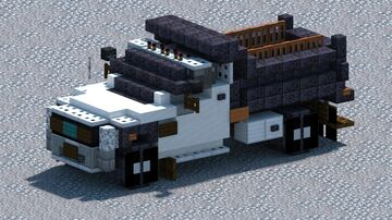 Ford F550 SuperDuty, Dump truck [With Download] Minecraft Map & Project