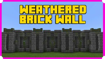 How To Build A Weathered Stone Brick Wall Minecraft Map & Project
