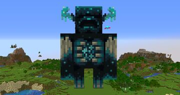 Giant Warden Statue Minecraft Map & Project