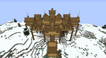 Snow lands house Minecraft Map & Project