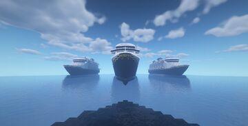 Disney Fleet!!-1:1 Exterior Full Scale Replica Minecraft Map & Project
