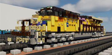 Minecraft Union Pacific ES44AH GEVO diesel locomotive original BSA2017 and 7400 with pink ribbon Minecraft Map & Project