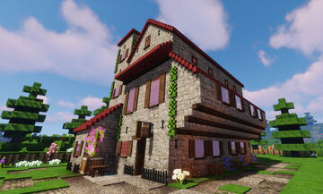 A medieval luxurious hostel Minecraft Map & Project
