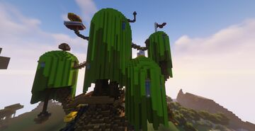 Adventure Time Finn And Jake Tree House Minecraft Map & Project