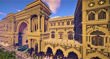 Mega build , The great gallery Vittorio Emanuele II (100 subscribers thanks) Minecraft Map & Project