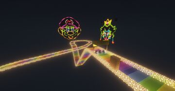 N64 Rainbow Road V4 Minecraft Map & Project