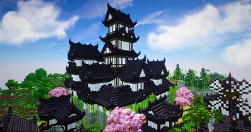 Japanese castle - Shirokuro   + village, survival Minecraft Map & Project