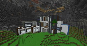 Luxurious Modern House in a Cave Minecraft Map & Project