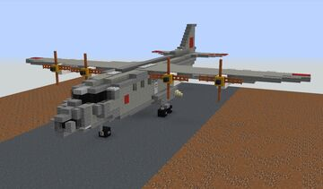 Antonov An-12 Minecraft Map & Project