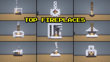Top 9 Fireplaces Minecraft Map & Project