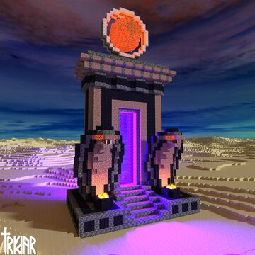 Egyptian Nether Portal +tutorial Minecraft Map & Project