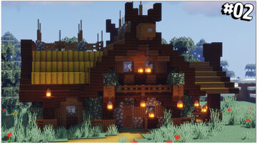Minecraft Tutorial: Viking Cottage Minecraft Map & Project