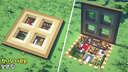 ⚒️ Minecraft Tutorial : Oak Trapdoor House 🏡 Minecraft Map & Project