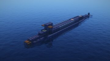 Mini 1:5 Scale Ohio Class Submarine Minecraft Map & Project
