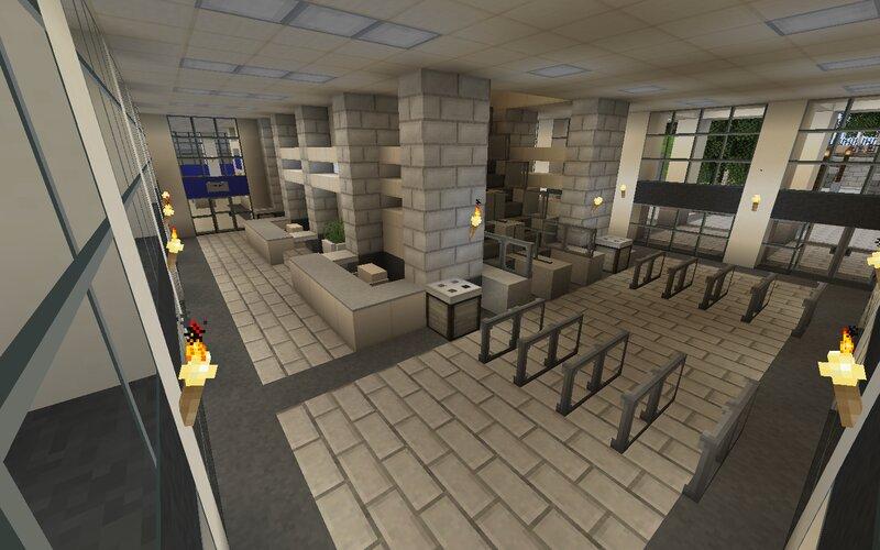 Main lobby area with escalators