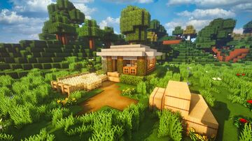 Minecraft | How To Build Survival Base Simple - Tutorial Minecraft Map & Project