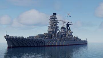 Battleship IJN Nagato Minecraft Map & Project