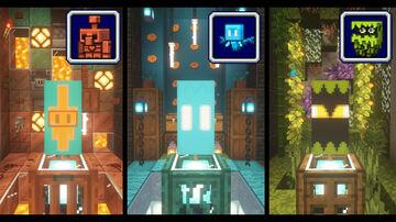Banner Designs: Allay, Glare, Cooper Golem Minecraft Map & Project
