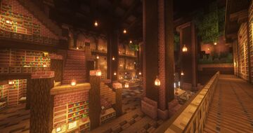 Underground library OX arena Minecraft Map & Project