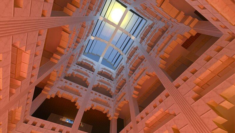 Atrium. I gonna build the chandelier.