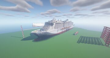 CUSTOM MINECRAFT CRUISE SHIP( Liberty Regalia)1.5:1 Scale Minecraft Map & Project