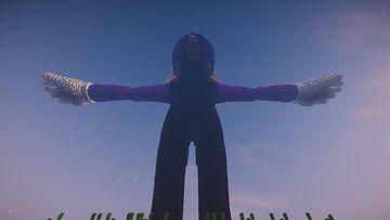 Giant T Posing Waluigi Minecraft Map & Project