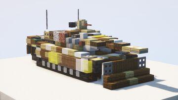 Leopard 2 PSO Main Battle Tank - 1.5:1 scale Minecraft Map & Project