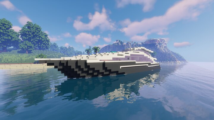 """""""St. Atlas,"""" the private yacht that comes with the mansion"""