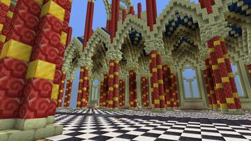 Unfinished neo-gothic cathedral (I have no idea) Minecraft Map & Project